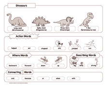 Dinosaurs: The Story of Three-horn Worksheet