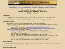 Diplomatic Misunderstandings:  Indian Treaties and the Black Hawk War Lesson Plan