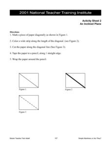 Directions for Making an Inclined Plane Worksheet