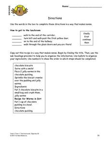 Directions Lesson Plan