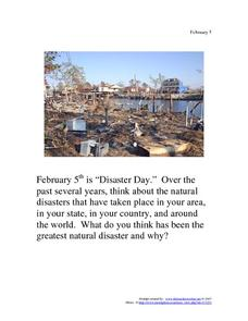 Disaster Day: February 5 Worksheet
