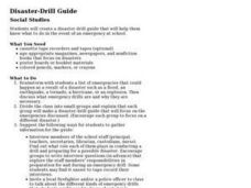 Disaster-Drill Guide Lesson Plan