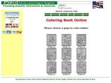 Disaster Preparedness Online Coloring Worksheet