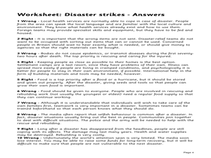 Disaster Strikes Lesson Plan