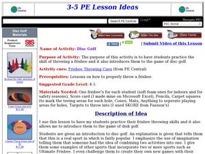 Disc Golf Lesson Plan