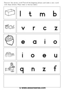 Discover the Secret Word Worksheet