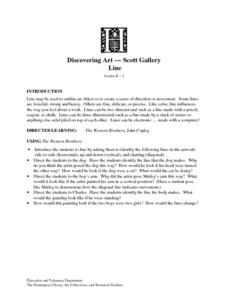 Discovering Art - Scott Gallery:  Line Lesson Plan