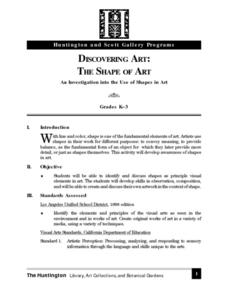Discovering Art: The Shape of Art Lesson Plan