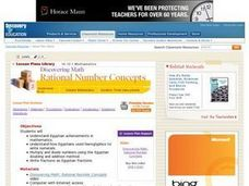 Discovering Math Rational Number Concepts Lesson Plan