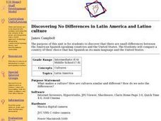 Discovering No Differences in Latin America and Latino Culture Lesson Plan