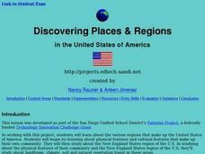 Discovering Places & Regions Lesson Plan