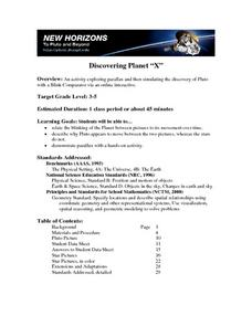 Discovering Planet X Lesson Plan