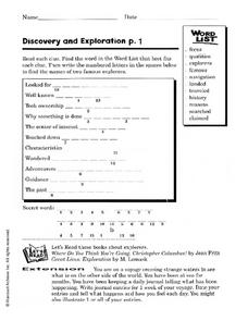 Discovery and Exploration Worksheet