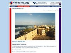 Discovery of Puerto Rico Lesson Plan
