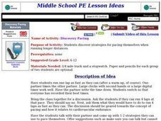 Discovery Pacing Lesson Plan