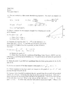 Discussion Sheet 5:  Differentiate Functions Worksheet