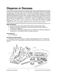Disperse or Decrease Lesson Plan
