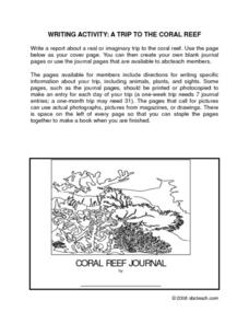 Dive In Journal Writing Activity Worksheet