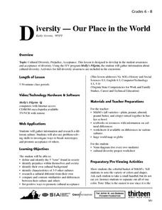 Diversity -- Our Place in the World Lesson Plan