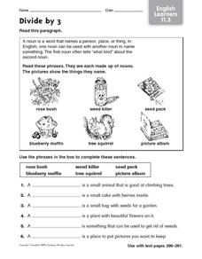 Divide by 3: English Learners Worksheet