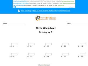 Dividing by 5 Lesson Plan