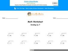 Dividing by 7: Part 5 Worksheet