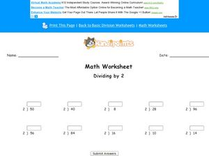 Dividing by Two Lesson Plan