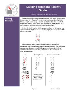 Dividing Fractions Worksheet