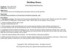 Dividing Money Lesson Plan