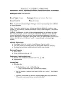 Division by Fractions (Part Two) Lesson Plan