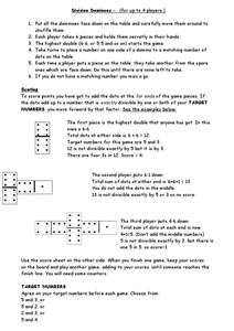 Division Dominoes Worksheet