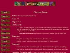 Division Game Lesson Plan