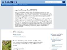 DNA Extraction Lesson Plan