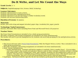Do It Write, and Let Me Count the Ways Lesson Plan