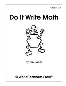 Do It Write Math Worksheet