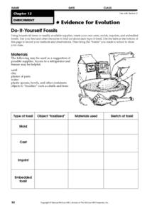 Do-It-Yourself Fossils Worksheet