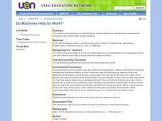 Do Machines Help Us Work? Lesson Plan