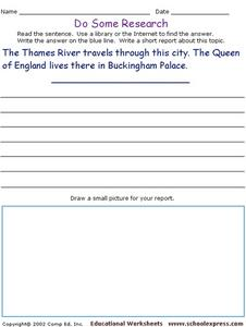 Do Some Research - London Worksheet