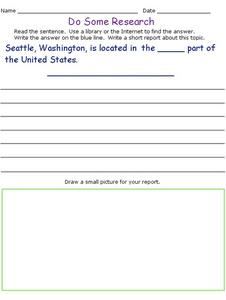 Do Some Research: The Northwest Worksheet