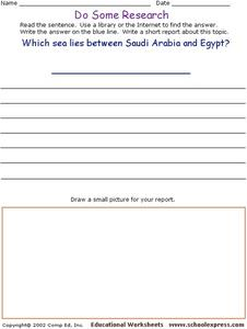 Do Some Research - The Red Sea Worksheet
