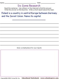 Do Some Research: Warsaw Worksheet