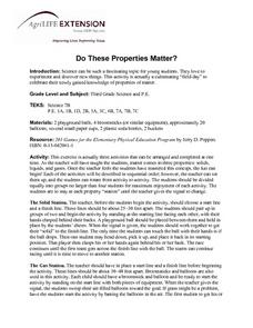 Do These Properties Matter? Lesson Plan