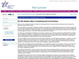 Do We Need a New Constitutional Convention? Lesson Plan
