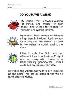 Do You Have a Wish? Worksheet