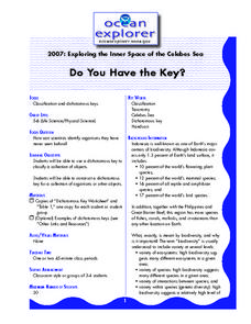 Do You Have the Key? Lesson Plan