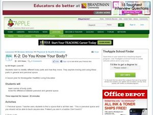 Do you know your body? Lesson Plan