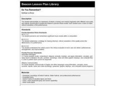 DO YOU REMEMBER? Lesson Plan