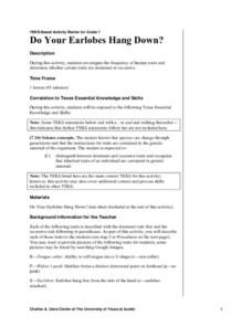 Do Your Earlobes Hang down? Lesson Plan