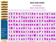 Doctor Who? Worksheet