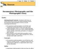 Documentary Photography and the Photographic Essay Lesson Plan